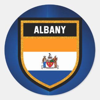 Albany Flag Classic Round Sticker