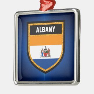 Albany Flag Metal Ornament