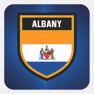 Albany Flag Square Sticker