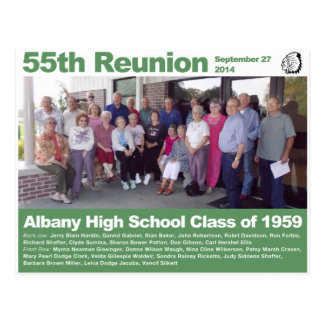 Albany High School Class of 1959 — 55th Reunion Postcard