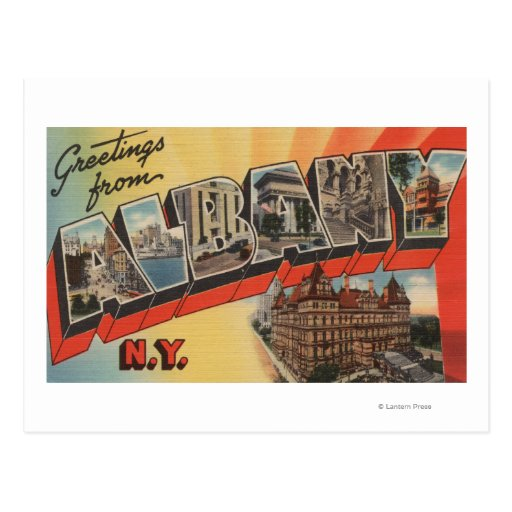 Albany, New York - Large Letter Scenes 2 Post Cards