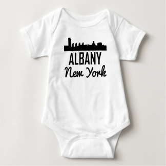 Albany New York Skyline Baby Bodysuit