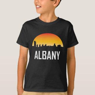 Albany New York Sunset Skyline T-Shirt