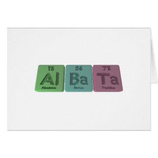 Albata-Al-Ba-Ta-Aluminium-Barium-Tantalum Greeting Card