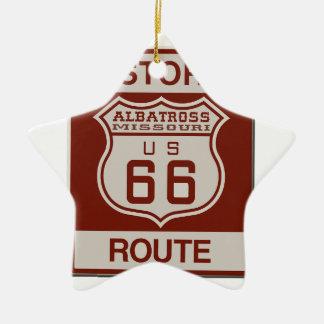Albatross Route Sixty Six Ceramic Ornament