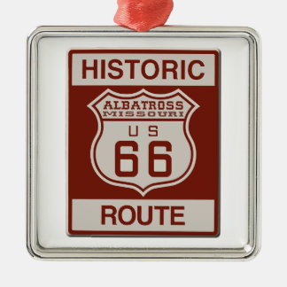 Albatross Route Sixty Six Metal Ornament
