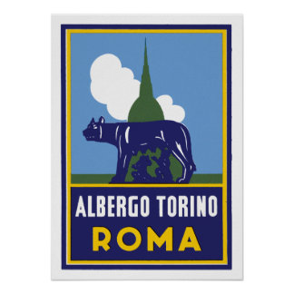 Albergo Torino Roma Posters