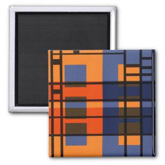 Albers & Mondrian Refrigerator Magnets