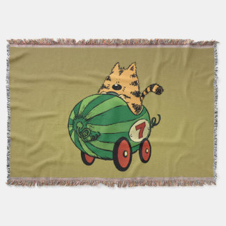Albert and his watermelon ride throw blanket