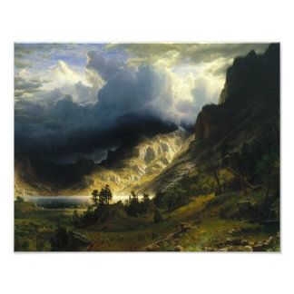 Albert Bierstadt - A Storm in the Rocky Mountains Photographic Print
