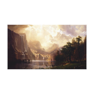 Albert Bierstadt - Among the Sierra Nevada, Califo Canvas Print