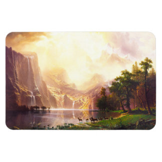 Albert Bierstadt Among the Sierra Nevada Magnet