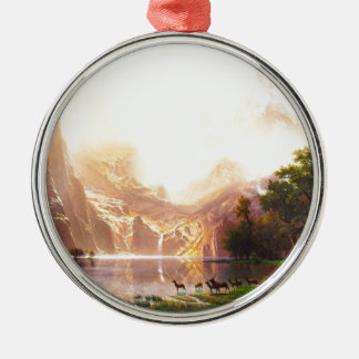Albert Bierstadt Among the Sierra Nevada Metal Ornament