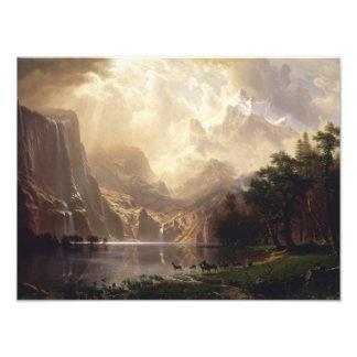 Albert Bierstadt - Among the Sierra Nevada Photo