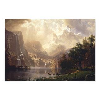 Albert Bierstadt - Among the Sierra Nevada Photographic Print
