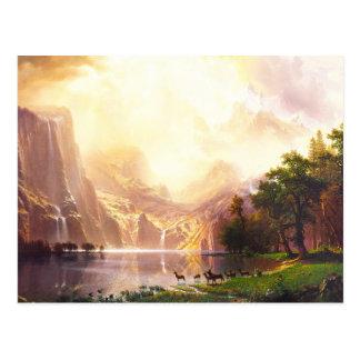 Albert Bierstadt Among the Sierra Nevada Postcard