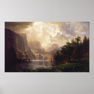 Albert Bierstadt - Among the Sierra Nevada Poster
