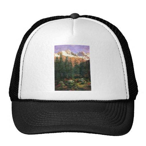 Albert Bierstadt Canadian Rockies Mesh Hat