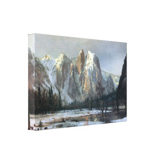 Albert Bierstadt - Cathedral Rocks, Yosemite Canvas Print