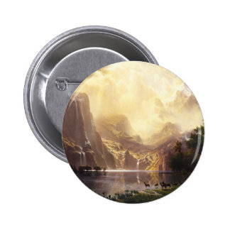 Albert Bierstadt In The Mountains Button