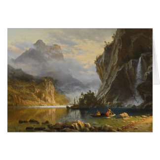Albert Bierstadt - Indians Spear Fishing Card