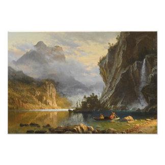 Albert Bierstadt - Indians Spear Fishing Photograph