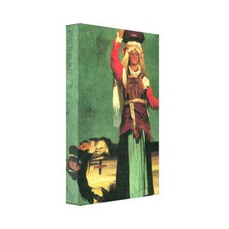 Albert Bierstadt - Italian costume studies Gallery Wrapped Canvas
