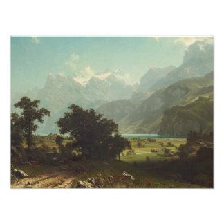 Albert Bierstadt - Lake Lucerne Photographic Print