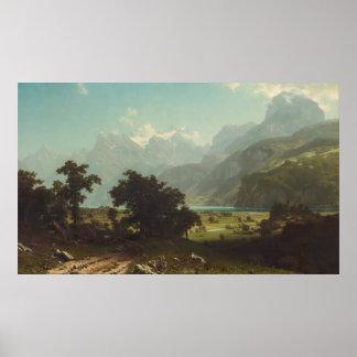 Albert Bierstadt - Lake Lucerne Poster