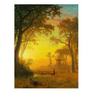 Albert Bierstadt Light in the Forest Postcard