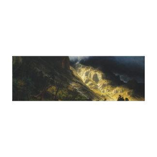 Albert Bierstadt, Nature, Landscape, Mountains Canvas Print