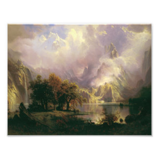Albert Bierstadt - Rocky Mountain Landscape Photo