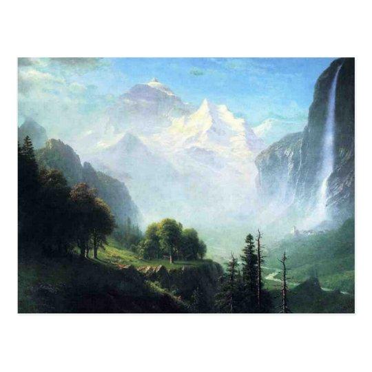 Albert Bierstadt  staubbach falls near lauterbru Postcard