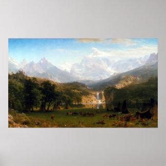 Albert Bierstadt The Rocky Mountains, Lander's Pea Poster