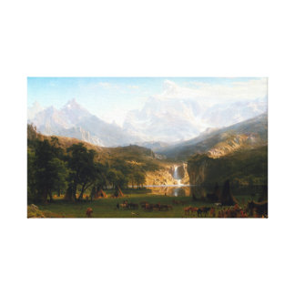 Albert Bierstadt The Rocky Mountains Lander's Peak Canvas Print