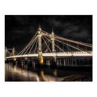 Albert Bridge crosses the River Thames, London Postcard