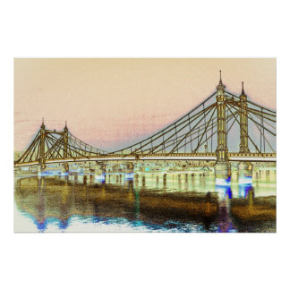 Albert Bridge London Poster