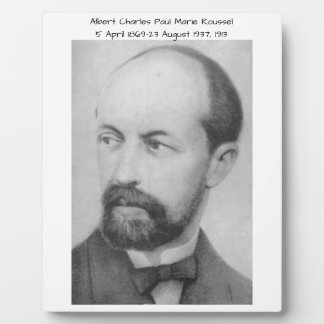 Albert Charles Paul Marie Roussel 1913 Plaque