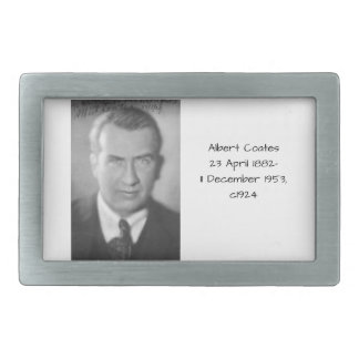 Albert Coates c1924 Rectangular Belt Buckle