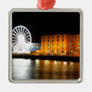 Albert dock Complex, Liverpool UK Silver-Colored Square Decoration