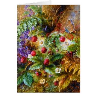 Albert Dürer Lucas: Wild Strawberries & Butterfly Card
