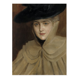 Albert Edelfelt The Black Hat CC0269 Postcard