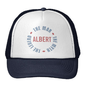 Albert Man Myth Legend Customizable Trucker Hat