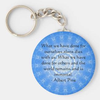Albert Pine inspirational quote Key Ring
