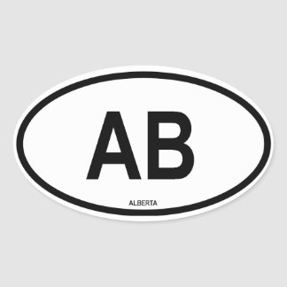 "Alberta ""AB"" Oval Sticker"