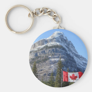 Alberta - BC Boarder Basic Round Button Key Ring