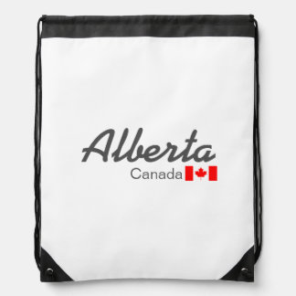 Alberta, Canada Drawstring Backpack