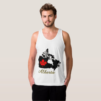 Alberta Customizable custom love Canada Province Singlet