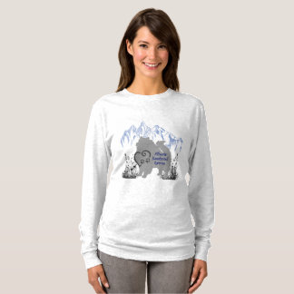 Alberta Keeshond Rescue Logo - Blue Grey T-Shirt