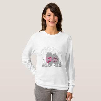 Alberta Keeshond Rescue Logo - Pink T-Shirt
